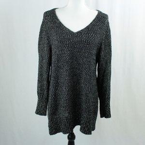 J. Jill Open Knit Crewneck Pullover Sweater